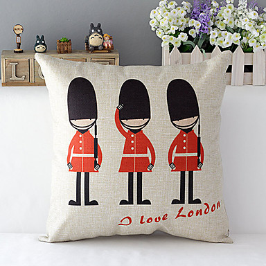 London soldiers Patterned Cotton/Linen Decorative Pillow Cover