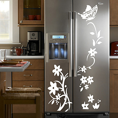 Wall Stickers Wall Decals Style Flower Rattan PVC Wall Stickers