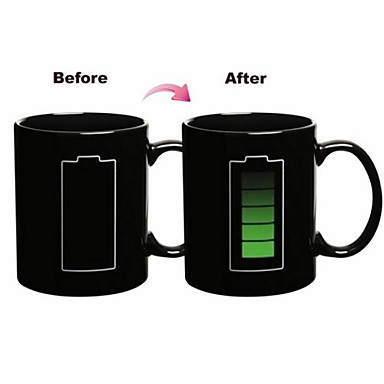 1pc 300ml Magic Battery Discolour Color Ceramic Mug Drinkware