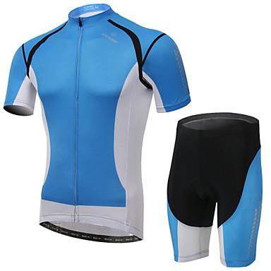 Damen Kurzarm Fahrradtriktot mit Fahrradhosen Fahhrad Shorts / Laufshorts / Trikot / Radtrikot / Kleidungs-Sets, 3D Pad, tragbar,