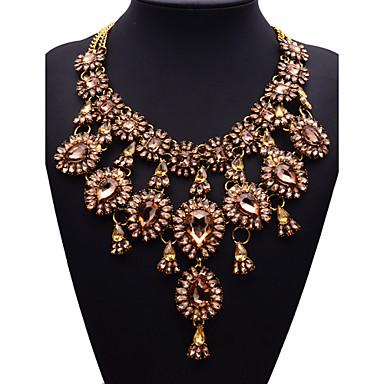 JQ Jewelry Big Name Gold Crystal Tassel Necklace Pendants