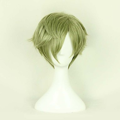 Cosplay Wigs Cosplay Cosplay Green Short Anime/ Video Games Cosplay Wigs 30 CM Heat Resistant Fiber Male / Female
