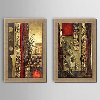 Maalattu Abstrakti Klassinen Kangas Hang-Painted öljymaalaus Kodinsisustus 2 paneeli