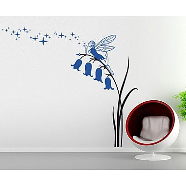 Decorative Wall Stickers - Plane Wall Stickers People / Botanical / Fantasy Living Room / Bedroom / Dining Room