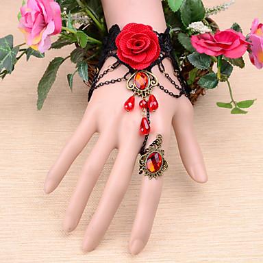 Damskie Rubin Łańcuch Stop Biżuteria Ślub Specjalne okazje Zaręczynowy Biżuteria kostiumowa