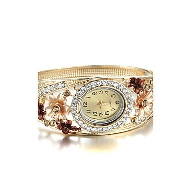 Damen Quartz Armbanduhr Imitation Diamant Legierung Band Blume / Elegant / Modisch / Armreif Gold