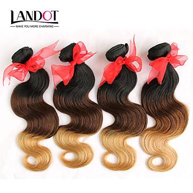 Włosy brazylijskie Body wave Ludzkie włosy wyplata 4 elementy 0.4