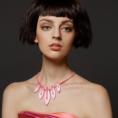 szép party / különleges alkalom rózsaszín levelek nyakláncok elegáns stílusban