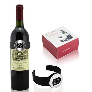 kreative Design-Maßnahme Rotwein automatisch Temperatur Weinthermometer