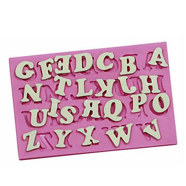 angol ábécé nagybetűvel alakú sütjük fandant tortát choclate édességet penész tortát díszítő cukor kézműves penész