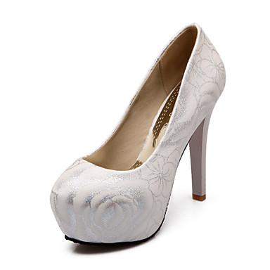 Eté Evénement Talons Fleur Soirée Habillé Talon Printemps Similicuir Aiguille à Mariage Femme PlateformeBlanc Chaussures Hiver amp; 05267046 Automne 7AxqXwS