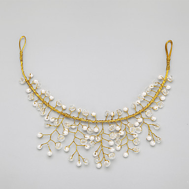 Women's Crystal Alloy Imitation Pearl Headpiece-Wedding Special Occasion Head Chain 1 Piece