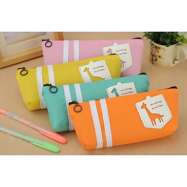 Cartoon Giraffe Pen Bag (Random Color)