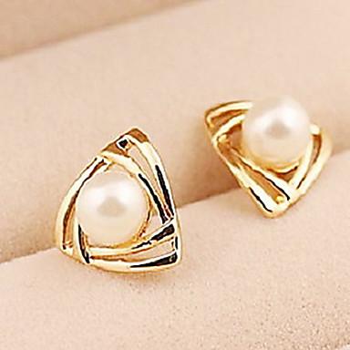 Women's Drop Earrings Imitation Pearl Alloy Triangle Jewelry
