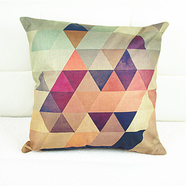 pcs Linen Pillow Case, Geometric Graphic Prints Novelty Accent/Decorative Traditional/Classic Modern/Contemporary