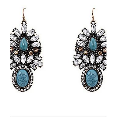 Women's Drop Earrings Fashion European Synthetic Gemstones Alloy Jewelry For