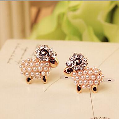 Boucles d'oreille goujon Perle Alliage Écran couleur Bijoux 2pcs