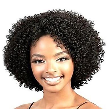 Synthetische Perücken Locken Synthetische Haare Afro-amerikanische Perücke Schwarz Perücke Damen Kurz Kappenlos