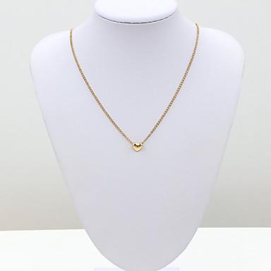 Γυναικεία Σχήμα Μοντέρνα Ευρωπαϊκό Κολιέ με Αλυσίδα Κρυστάλλινο Αυστριακό κρύσταλλο 18Κ Χρυσό Προσομειωμένο διαμάντι Κολιέ με Αλυσίδα