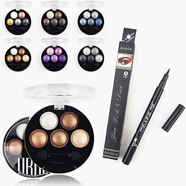 Eyeshadow Palette Makeup Tools Travel Eco-friendly Professional 1PCS Professional Waterproof Liquid Eyeliner Pen+1PCS Bright Stereo 5 Color UBUB Roast Eye Shadow Powder Metallic Shimmer(6 Color to