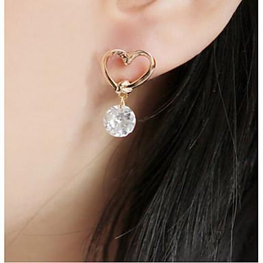 여성용 크리스탈 스터드 귀걸이 - 18K 골드 플레이티드, 라인석, 도금 골드 유럽의, 패션 골드 제품 / 모조 다이아몬드 / 오스트리아 크리스탈