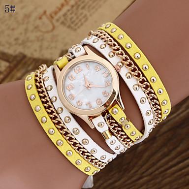 Damskie Kwarcowy Zegarek na bransoletce Gorąca wyprzedaż PU Pasmo Artystyczny Modny Wielokoloroe