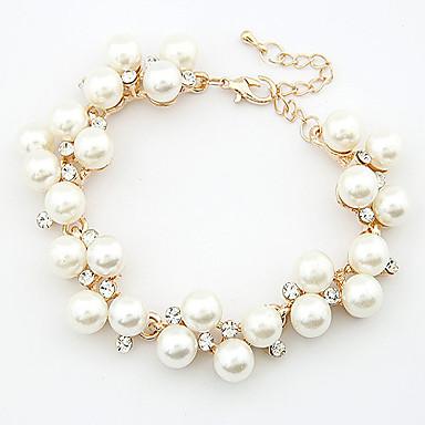 Damen Perle Ketten- & Glieder-Armbänder Bettelarmbänder - Perle, Strass Zierlich, Party, Freizeit Armbänder Für Hochzeit Geschenk Alltag