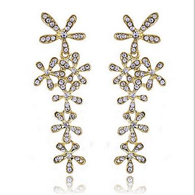 Κρεμαστά Σκουλαρίκια Στρας Κράμα Μοντέρνα κοσμήματα πολυτελείας Χρυσό Ασημί Κοσμήματα 2pcs
