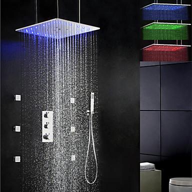 Bene Rubinetto Doccia - Moderno Cromo Valvola In Ottone Bath Shower Mixer Taps - Ottone - Tre Maniglie Cinque Fori #02240885 Da Processo Scientifico