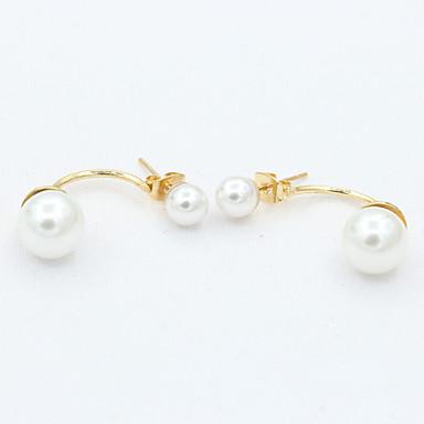 Naušnica Viseće naušnice Jewelry 1set Legura / Imitacija bisera / Platinum Plated Žene Zlatna / Bijela
