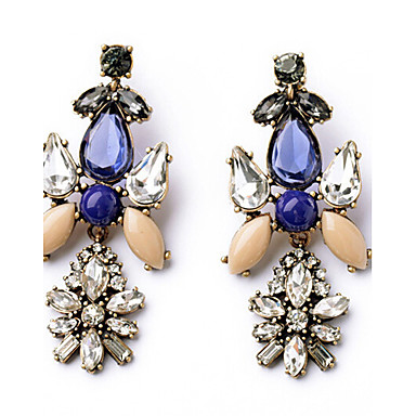 Women's Drop Earrings Fashion Luxury European Synthetic Gemstones Alloy Jewelry For