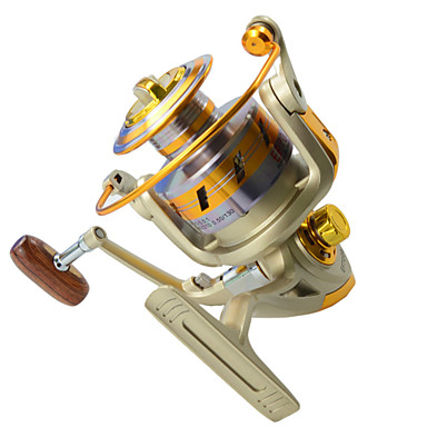 Fishing Reel Spinning Reel 5.5:1 Gear Ratio+10 Ball Bearings Left-handed Sea Fishing / Fly Fishing / Bait Casting - EF1000 / Ice Fishing