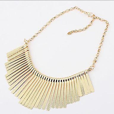 Damen Halsketten Statement Ketten  -  Quaste Modisch Europäisch Schwarz Silber Golden Modische Halsketten Für Party Alltag Normal