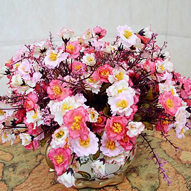 1 şube Polyester Şakayıklar Masaüstü Çiçeği Yapay Çiçekler