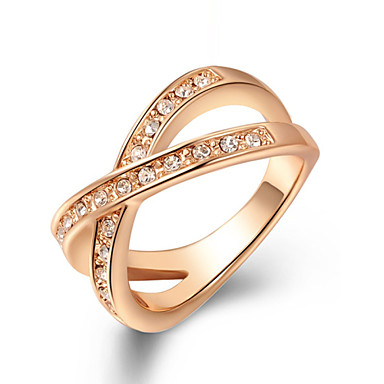 Women's Statement Ring - Zircon, Alloy Fashion 6 / 7 / 8 Silver / Golden For Wedding / Party / Daily