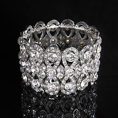 Damen Tennis Armbänder - Modisch Kreisform Silber Armbänder Für Hochzeit Party