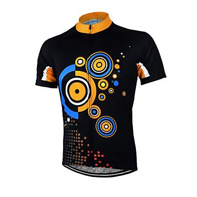 Arsuxeo Męskie Krótki rękaw Koszulka rowerowa Rower Koszulka, Quick Dry, Anatomiczny kształt, Oddychający