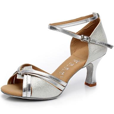 Μη δυνατότητα προσαρμογής - Λατινικοί - Παπούτσια Χορού - με Κουβανέζικο Τακούνι - από Σατέν - για Γυναικεία
