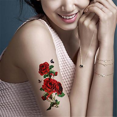 Naklejki z tatuażem Seria zwierzęca Seria kwiatowa Non Toxic Waterproof Dziecko Dziecięce Damskie Girl Męskie Dorosły Boy Dla nastolatków