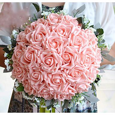 Wedding Flowers Bouquets Wedding Polyester Satin Foam 12.6