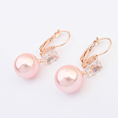 Damskie Cyrkonia Pearl imitacja Europejski Perłowy Imitacja pereł Cyrkon Cyrkonia Różowa perła Stop Motyl Zwierzę Biżuteria