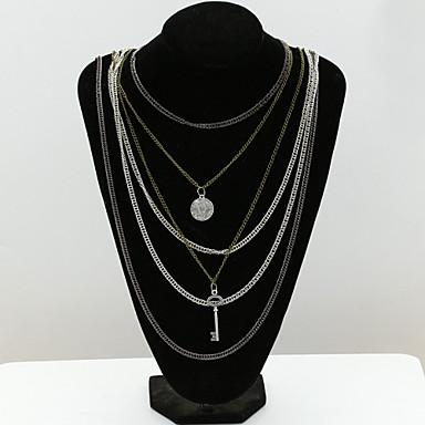 Женский Мода европейский Слоистые ожерелья Кристалл Искусственный бриллиант 18K золото Австрийские кристаллы Слоистые ожерелья ,