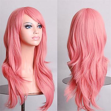 косплей девушка мода должна иметь качество завиток дыма розовый парик 70 см
