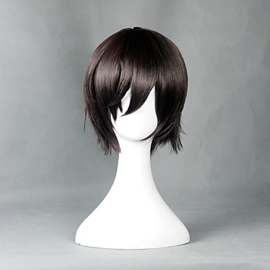Cosplay Wigs Cosplay Cosplay Brown Short Anime Cosplay Wigs 30 CM Heat Resistant Fiber Male / Female