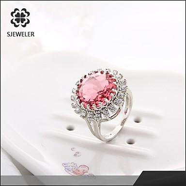 Bagues Affirmées Mode Zircon Platiné Imitation Diamant Bijoux Pour Soirée 1pc