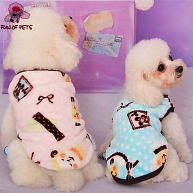 Kissa Koira Takit T-paita Yöpuvut Koiran vaatteet Cosplay Häät Rusetti Piirretty Sininen Pinkki Asu Lemmikit