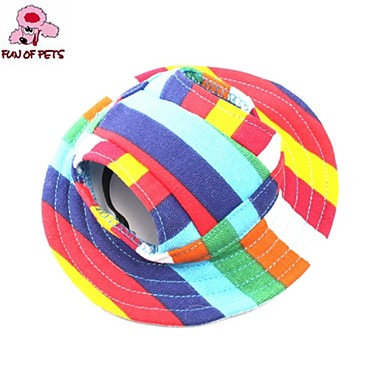 Cat Dog Bandanas & Hats Dog Clothes Casual/Daily Holiday Stripe Rainbow Costume For Pets