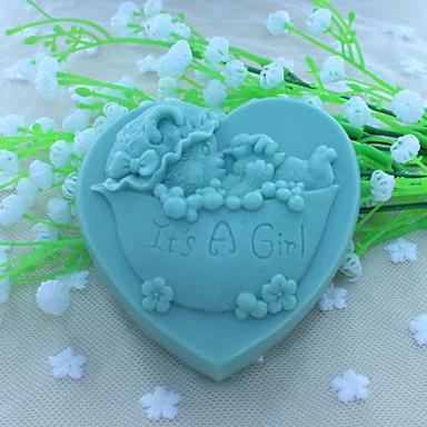 szív medve handmode szappan penész fondant torta csokoládé szilikon penész, dekorációs szerszám bakeware