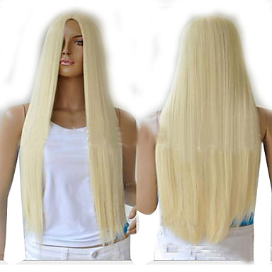 Synthetic Wig Straight Synthetic Hair Wig Women's Capless