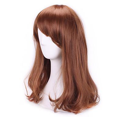 Perücken / Synthetische Perücken Locken Mit Pony Braun Damen Kappenlos Synthetische Haare